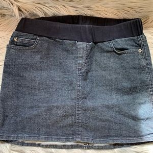 Mimi Maternity denim jean skirt